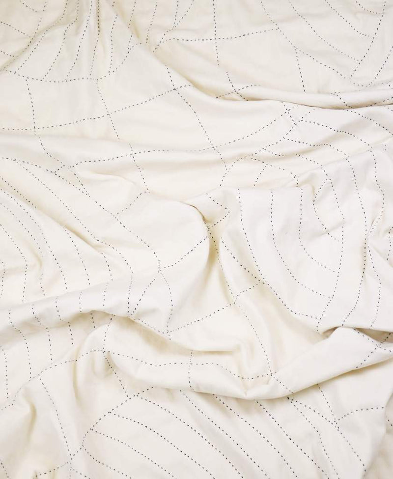 Anchal Project Ivory Crescent Lattice Quilt Anchal Project