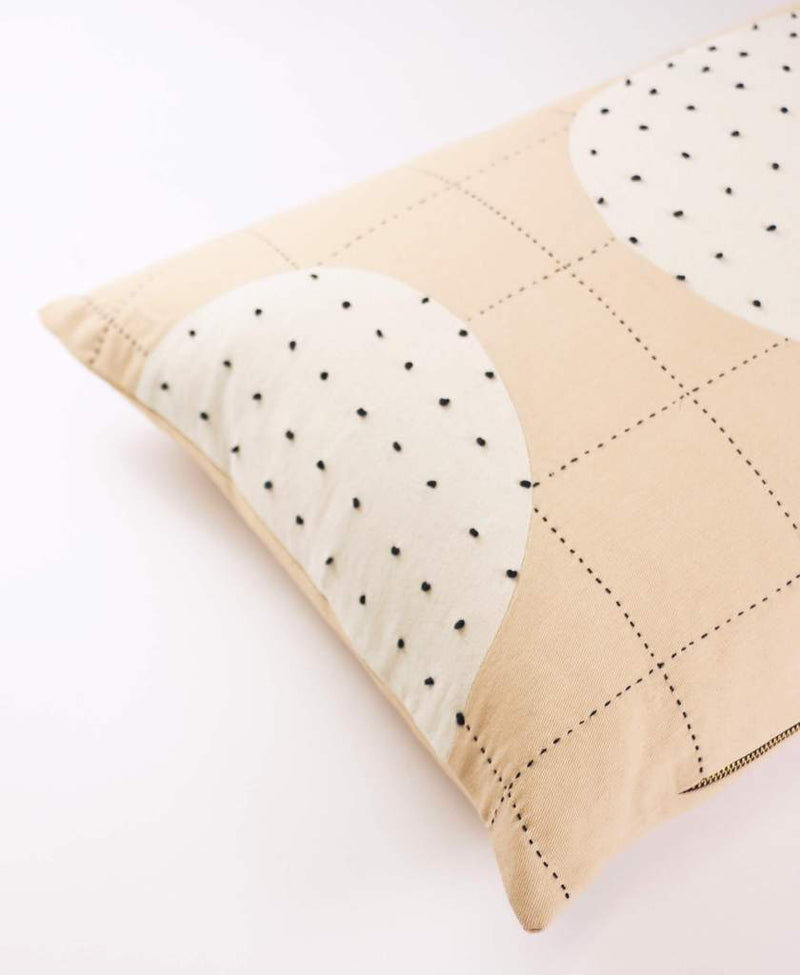 Anchal Project Ivory Lunar Dot Lumbar Pillow Anchal Project