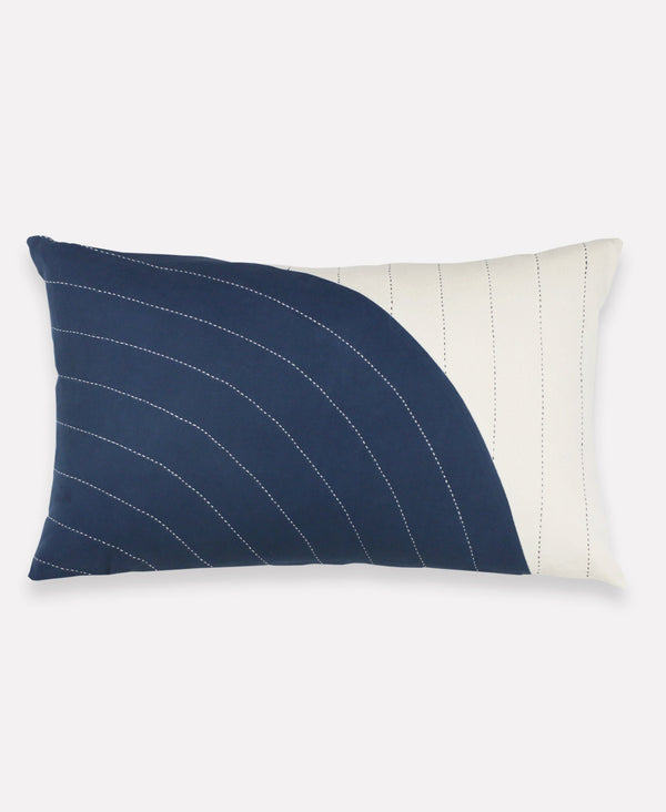Anchal Project Navy Curve Lumbar Pillow Anchal Project Pillow Cover