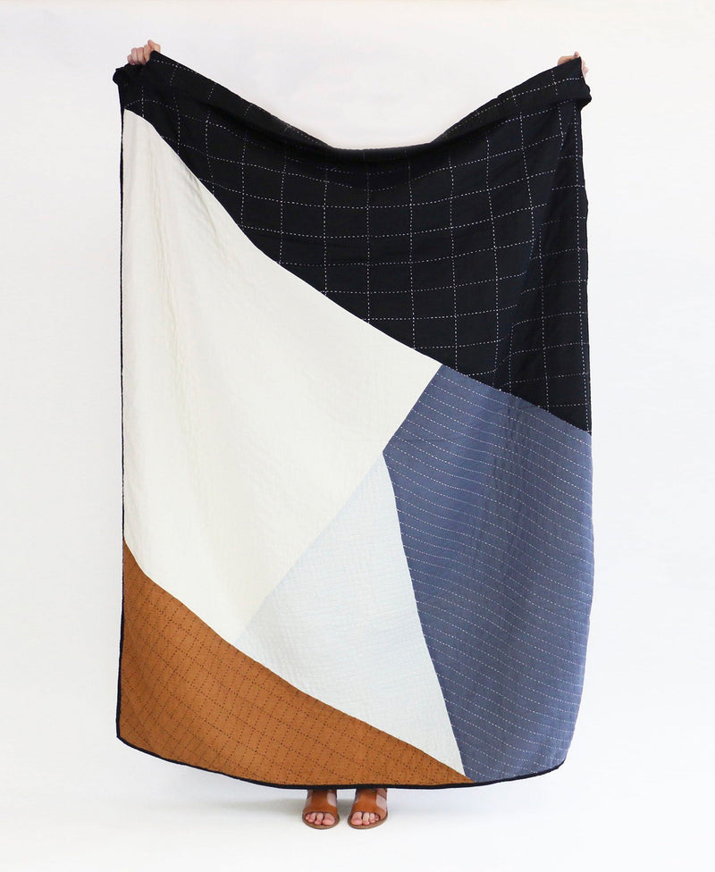 Anchal Project Organic Cotton Naari Patchwork Throw Anchal Project
