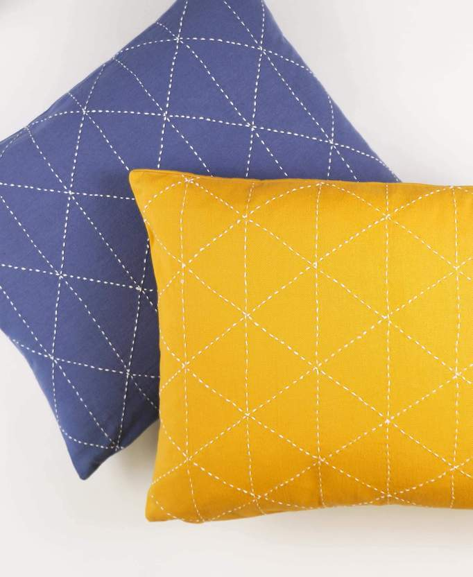 Anchal Project Small Graph Throw Pillow - Mustard Anchal Project