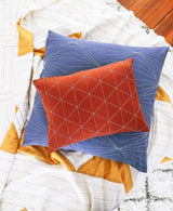 Anchal Project Small Graph Throw Pillow - Rust Anchal Project-13444161896511
