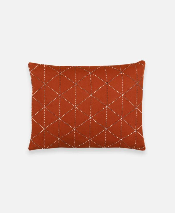 Anchal Project Small Graph Throw Pillow - Rust Anchal Project