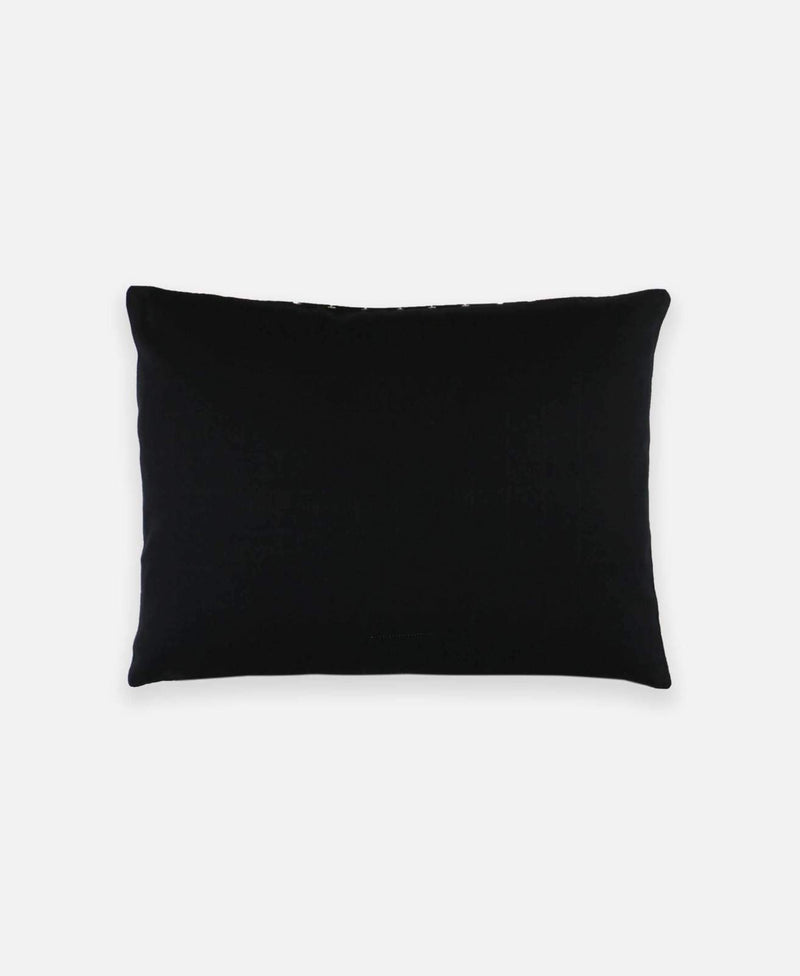 Anchal Project Small Organic Graph Throw Pillow - Charcoal Home Goods Made Trade