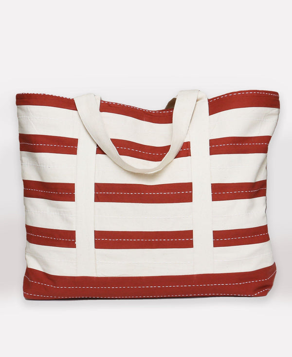 Anchal Project Stripe Canvas Tote Bag - Rust Anchal Project