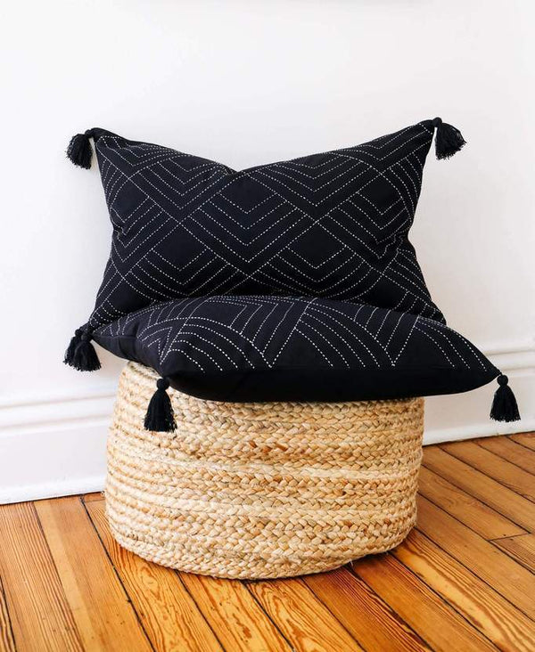 Anchal Project Tilt Throw Pillow - Charcoal Anchal Project