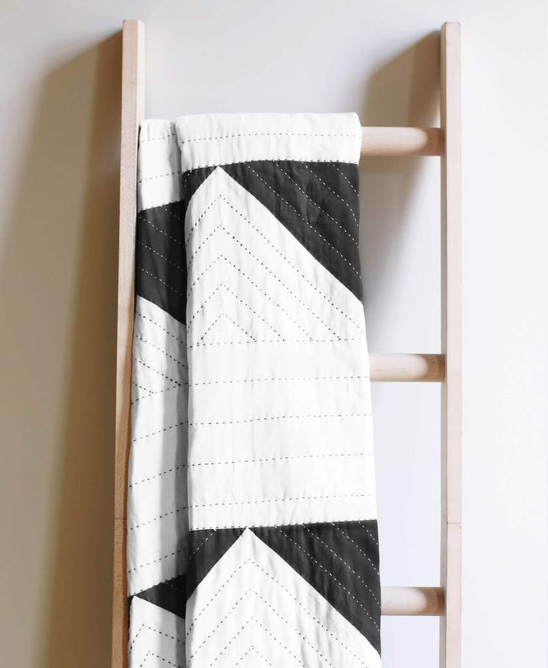 Anchal Project Triangle Organic Cotton Throw - Charcoal Anchal Project