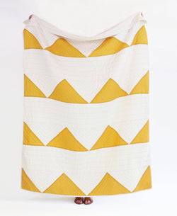 Anchal Project Triangle Organic Cotton Throw - Gold Anchal Project