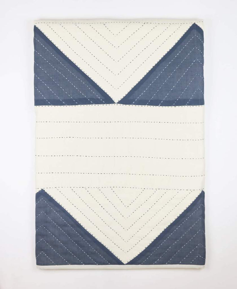 Anchal Project Triangle Organic Cotton Throw - Slate Anchal Project