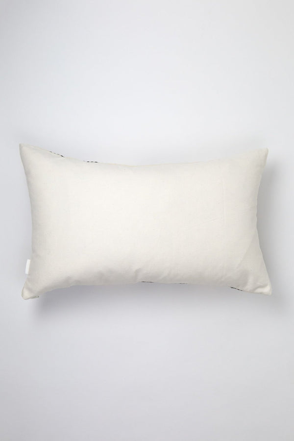"Archive New York Almolonga Diamond Pillow - Black & Natural White - 12"" x 20"" Archive New York"