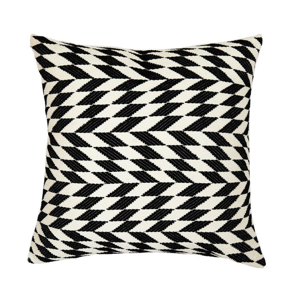 Archive New York Almolonga Diamond Pillow - Black & Natural White Archive New York
