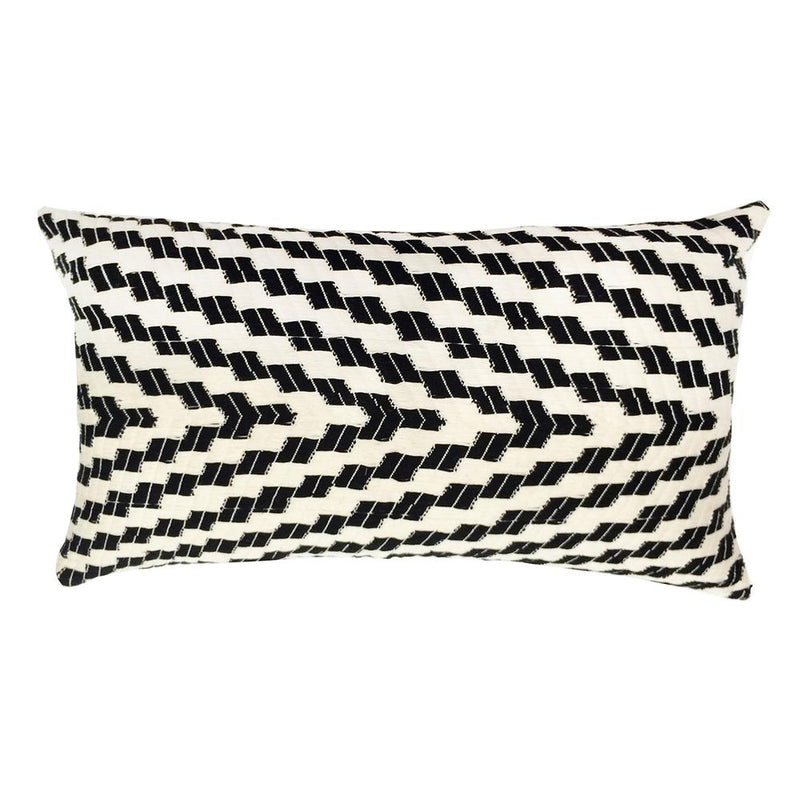 Archive New York Almolonga Zig Zag Pillow - Black & White Archive New York