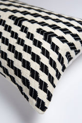 Archive New York Almolonga Zig Zag Pillow - Black & White Archive New York-13135187148863
