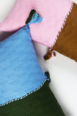Archive New York Antigua Pillow - Baby Blue & Olive Colorblocked Archive New York-13135234760767