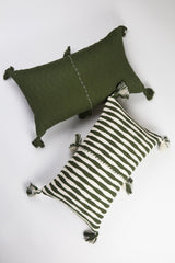 Archive New York Antigua Pillow - Olive Stripe Archive New York-13135177613375