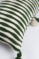Archive New York Antigua Pillow - Olive Stripe Archive New York-13135152545855