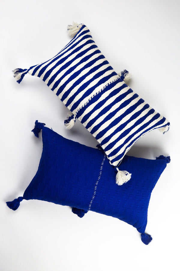 Archive New York Antigua Pillow - Royal Blue Stripe Archive New York