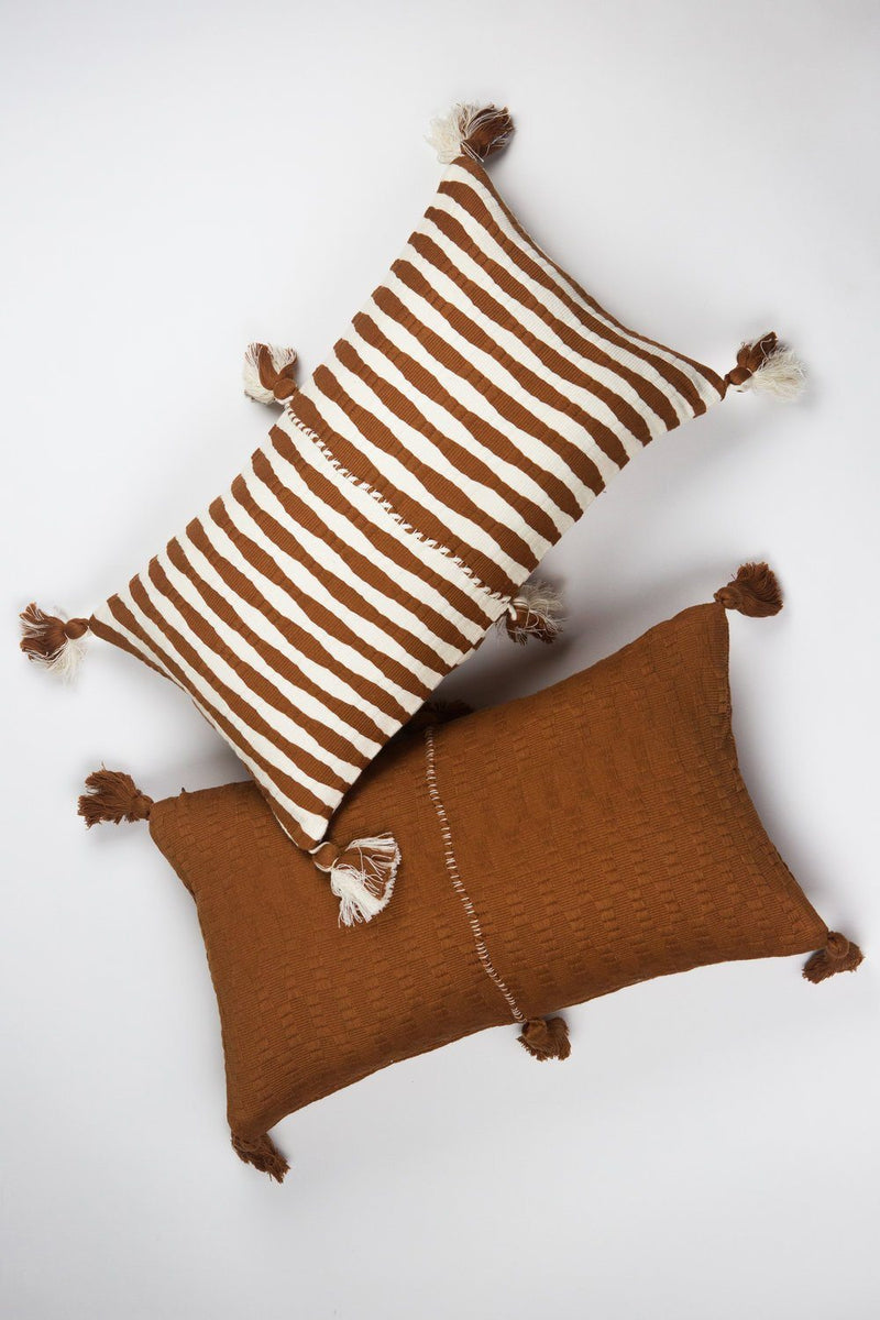 Archive New York Antigua Pillow - Umber Solid Archive New York