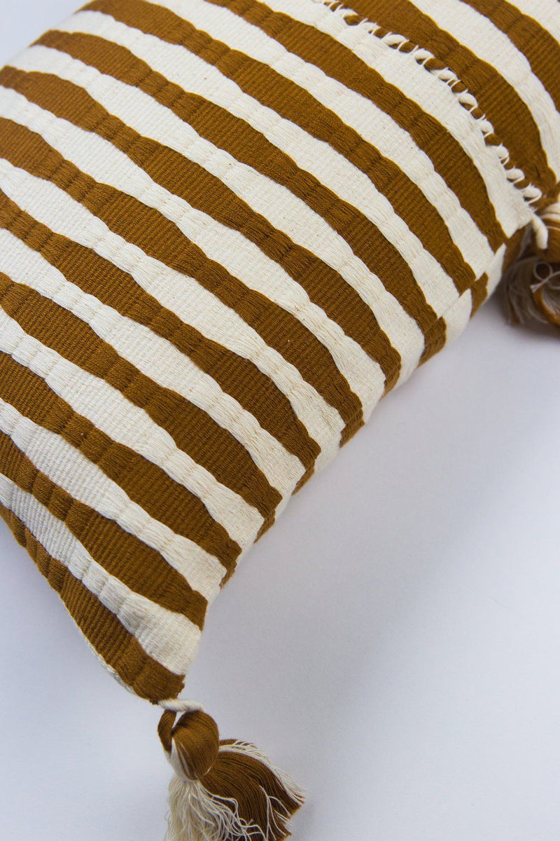 Archive New York Antigua Pillow - Umber Stripe Archive New York