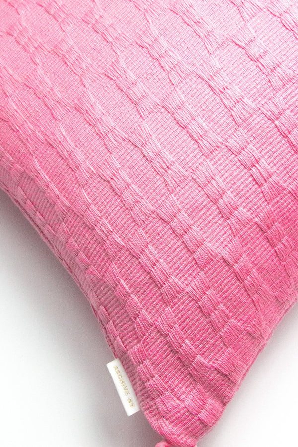 Archive New York Backordered: Antigua Pillow - Bubblegum Pink Solid Archive New York
