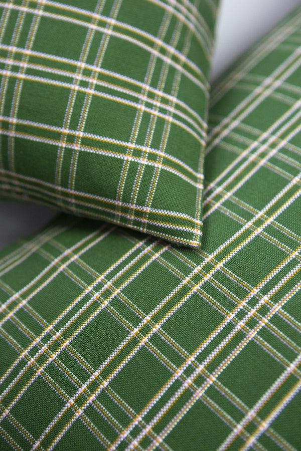 "Archive New York Chiapas Plaid Forest Green Pillow 12"" x 20"" Pillow Archive New York"