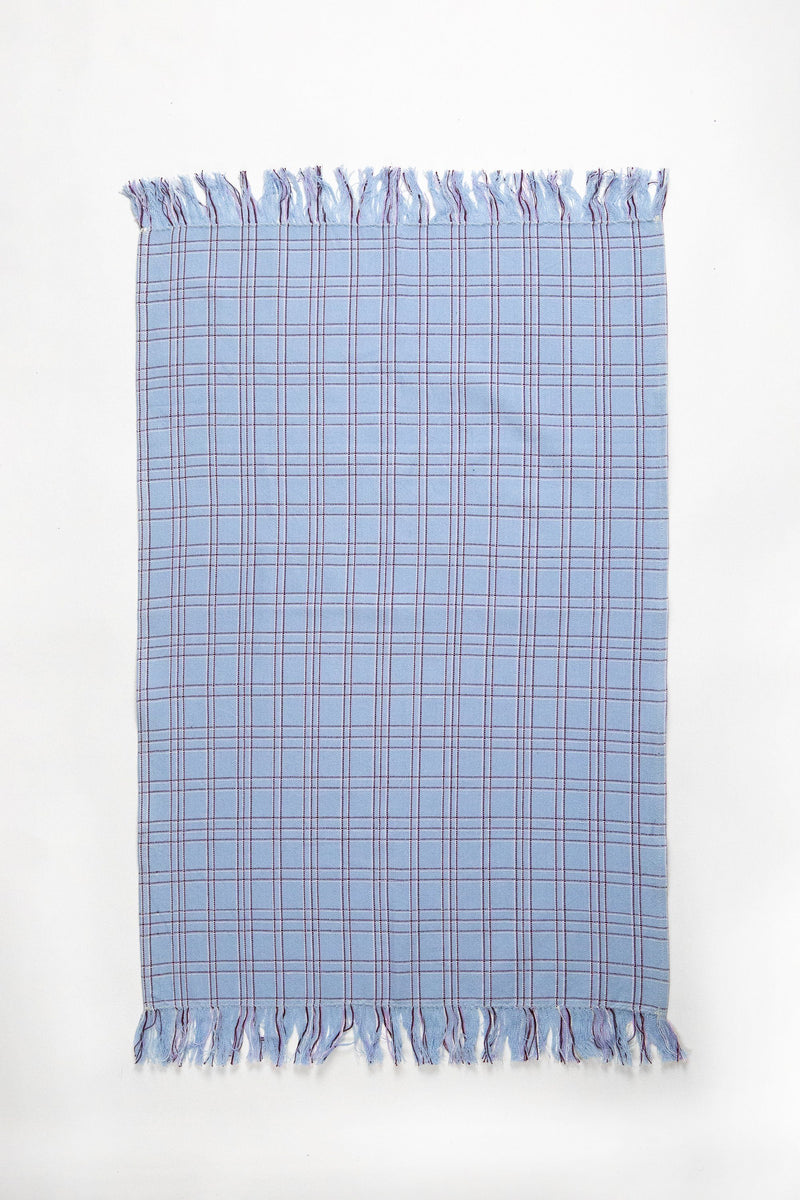Archive New York Chiapas Plaid Light Blue Kitchen Towel Kitchen Archive New York