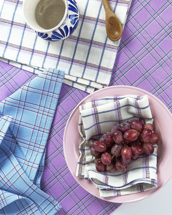 Archive New York Chiapas Plaid Lilac Placemat Archive New York