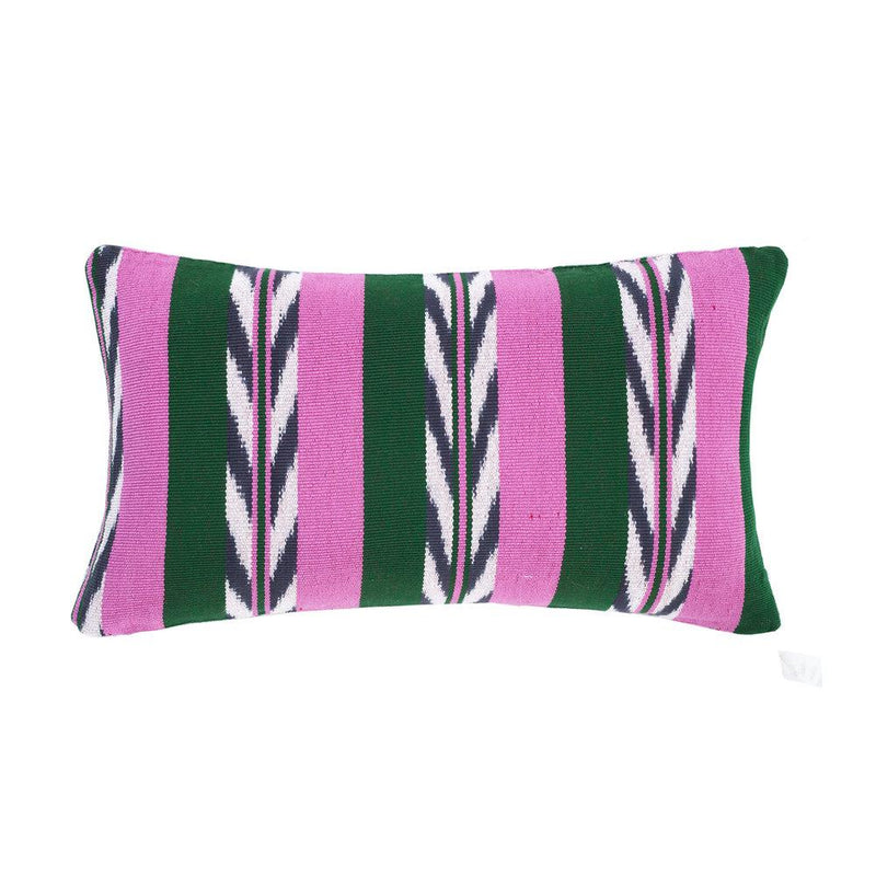 "Archive New York Palm Ikat Pillow - 12""x 20"" Archive New York"