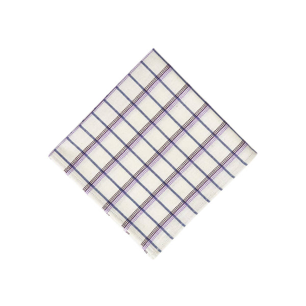 Archive New York San Lucas Plaid White Napkin Archive New York