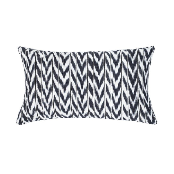 "Archive New York Toto Black + White Ikat Pillow - 12"" x 20"" Archive New York"