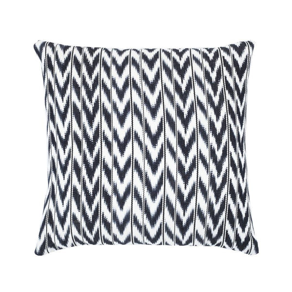 "Archive New York Toto Black + White Ikat Pillow - 18"" x 18"" Archive New York"