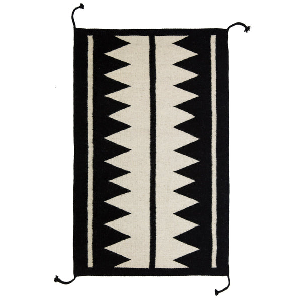 Archive New York Zapotec Black & Ivory Rug #5 Archive New York