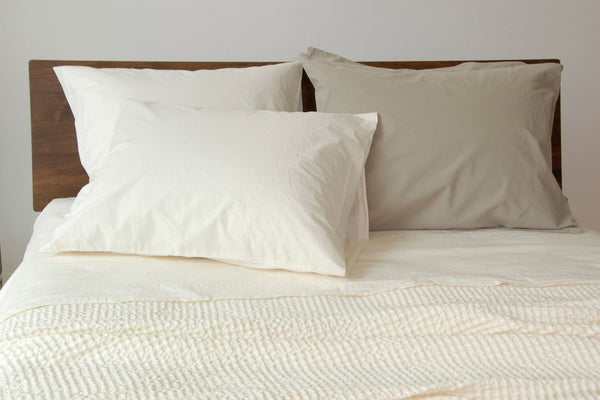 Area Home Anton Pillow Cases Cases Area Home Standard Ivory