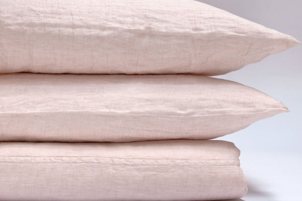 Area Home Camille Linen Duvet Cover - Pink Bedding and Bath Area Home Twin
