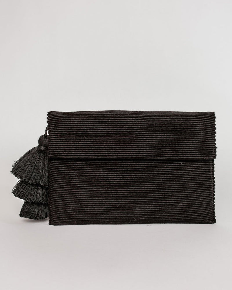 August Sage Ande Tassel Clutch Accessories August Sage