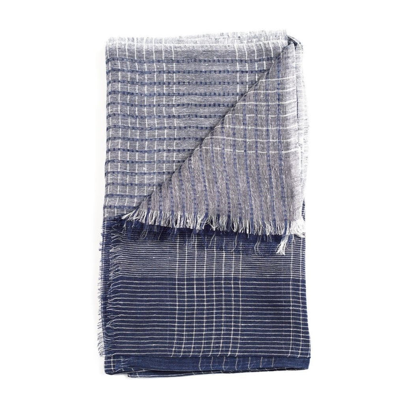 Auro Linen Scarf - Navy Studio Variously