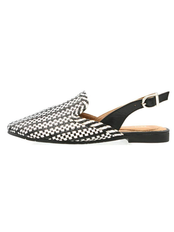 Ava Loafer- Black and White Salt & Umber