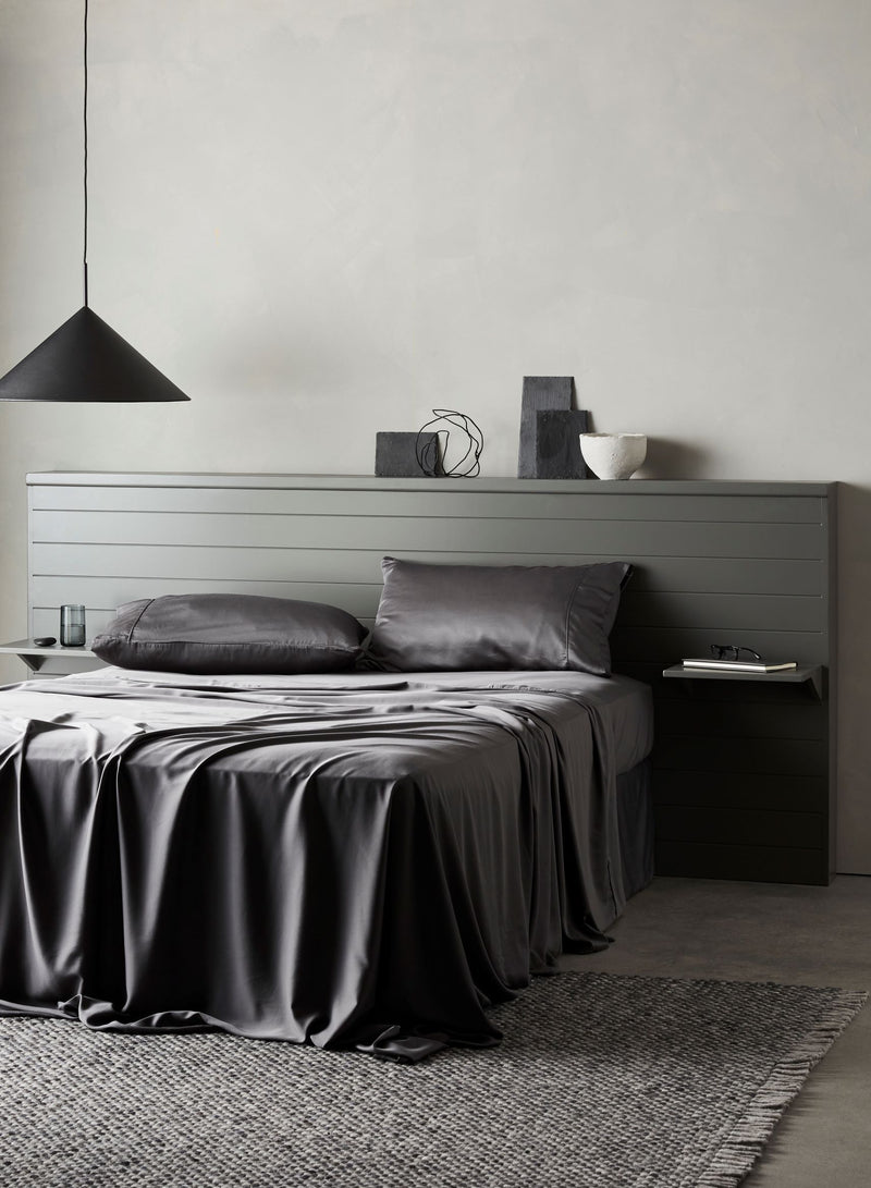 Bamboo Lyocell Fitted Sheet - Gray Bedding and Bath Ettitude
