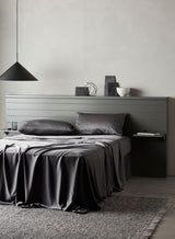 Bamboo Lyocell Flat Sheet - Gray Bedding and Bath Ettitude -15758764146751