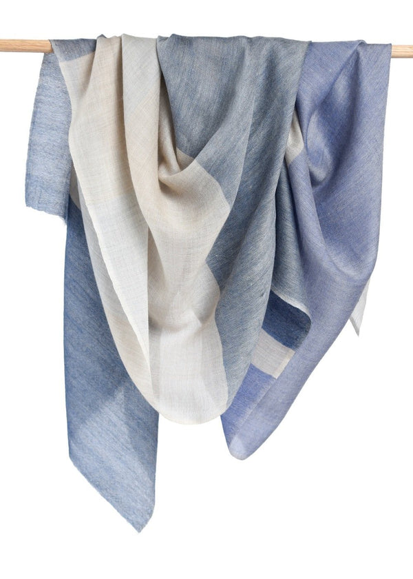 Bloom & Give Alice Cashmere Scarf - Blue Scarves Bloom & Give