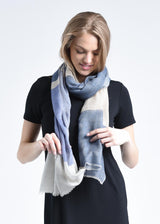 Bloom & Give Alice Cashmere Scarf - Blue Scarves Bloom & Give-12629808119871