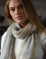 Bloom & Give Alice Cashmere Scarf - Ivory Scarves Bloom & Give-12629798584383