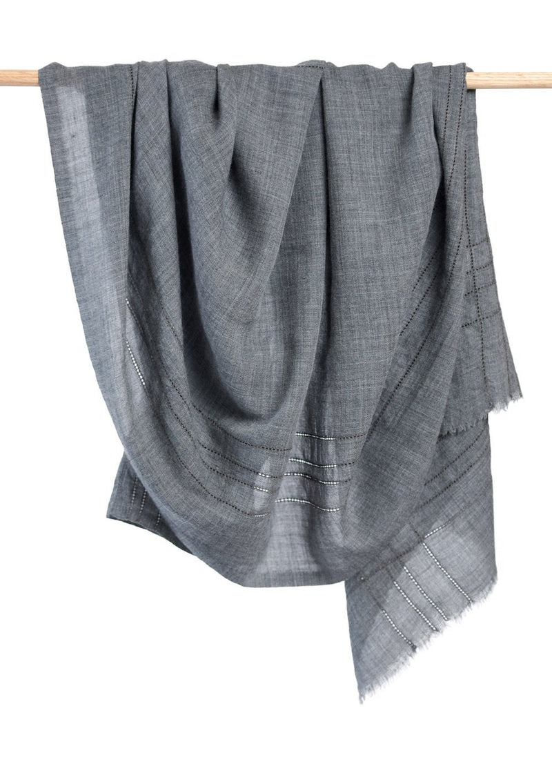 Bloom & Give Anufred Scarf - Gray Scarves Bloom & Give