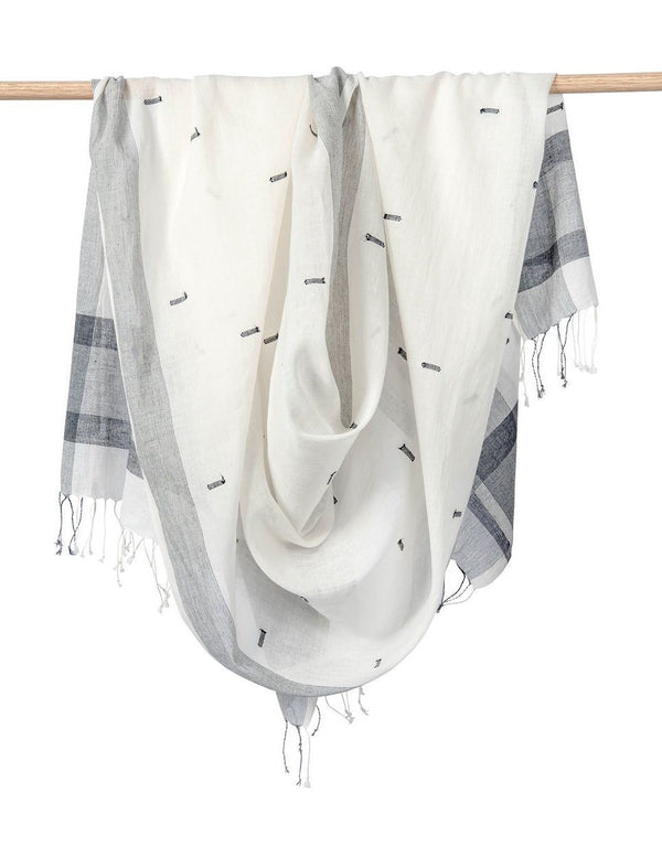 Bloom & Give Diti Scarf - B/W Scarves Bloom & Give