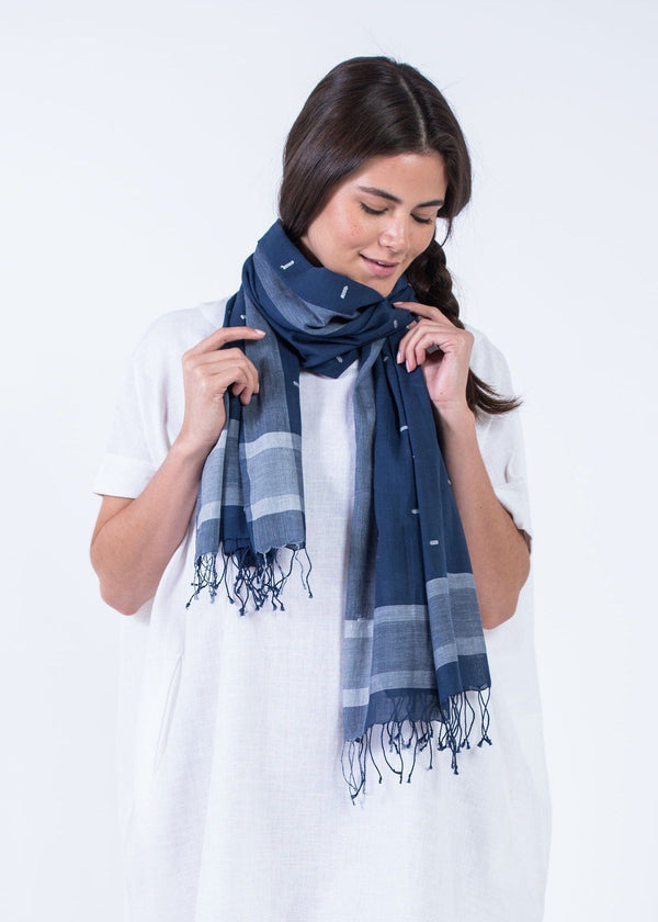 Bloom & Give Diti Scarf - Indigo Scarves Bloom & Give