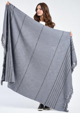 Bloom & Give Duka Throw/Blanket - Gray Throws Bloom & Give-12629834006591