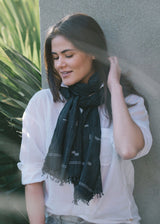 Bloom & Give Gaya Scarf - Charcoal Scarves Bloom & Give-5244387459135