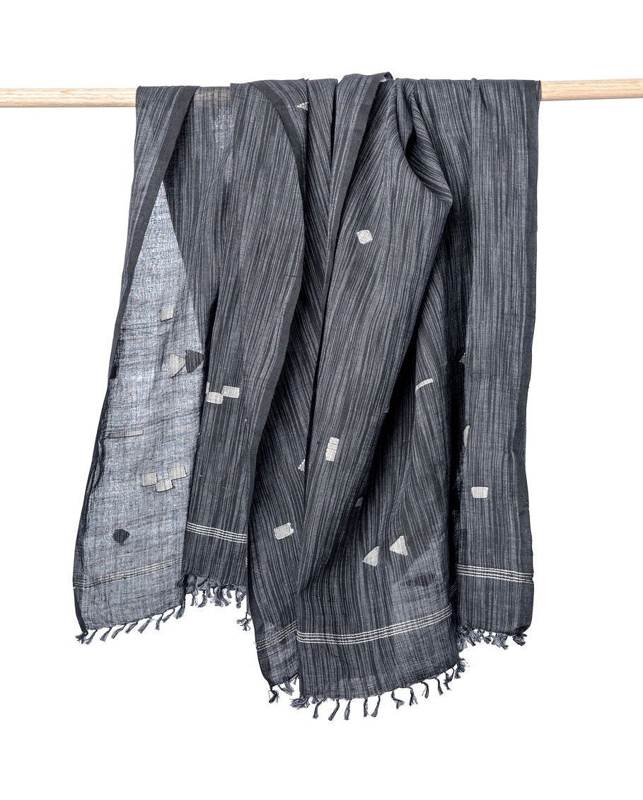 Bloom & Give Gaya Scarf - Charcoal Scarves Bloom & Give
