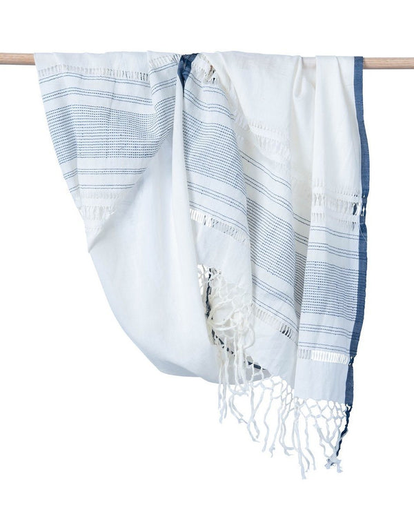 Bloom & Give Hawa Scarf - Indigo Scarves Bloom & Give