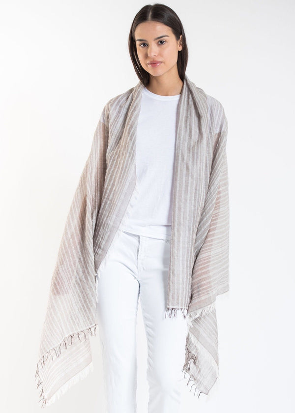 Bloom & Give Leher Scarf - Taupe Scarves Bloom & Give